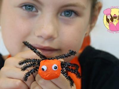 Spooky kids Holiday craft SPIDER & EYEBALL lollipop halloween