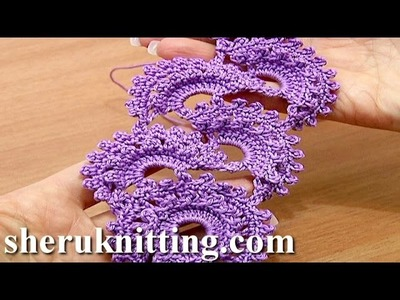 Tape Lace Crochet Tutorial 3 Part 1 of 2 Beginning the Tape Crochet Round Motif