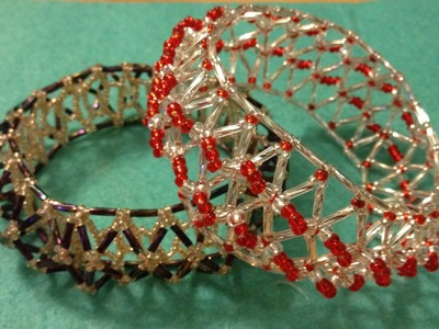 Tutorial, 3D light, bugle netted bangle, bracelet.