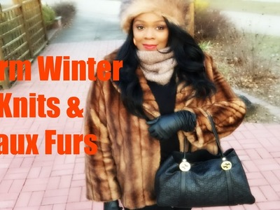Warm Winter Knits & Faux Furs