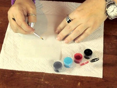 What Kind of Paint Sticks to Transparency Paper? : Bows & Craft Tips