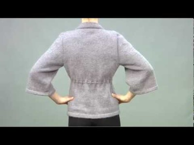 #30 Drawstring Waist Cardigan, Vogue Knitting Fall 2009