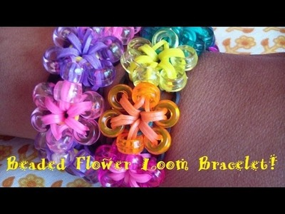 Beaded Flower Loom Bracelet Step-by-Step Tutorial! (Clear & Easy)