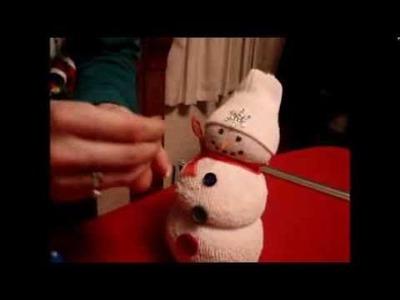 Craftin' Cathy Festive Sock Snowman