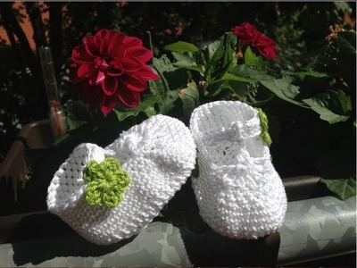 Crochet Baby Shoes with Straps - Sandals for Newborns - Part 3 - Shoe Straps by BerlinCrochet