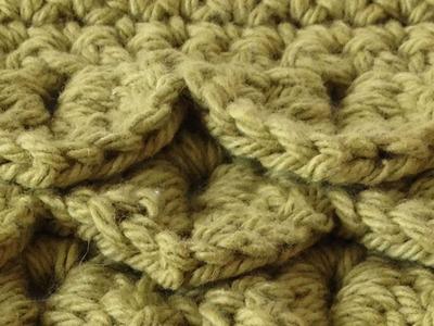Crocodile Stitch Free Crochet Pattern - Left Handed