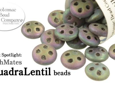 CzechMates QuadraLentil Beads