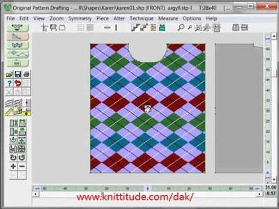 DesignaKnit 8 Tutorial Layout Your Stitch Pattern Directly In Original Pattern Drafting