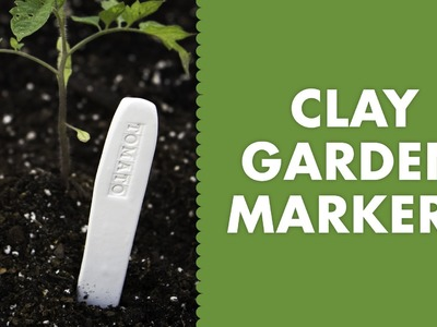DIY Clay Stamped Garden Markers