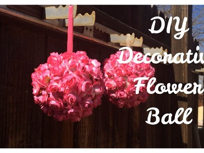 DIY Decorative Flower Ball