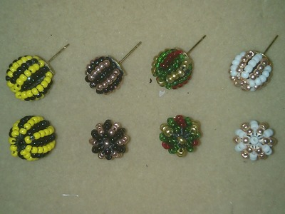 DIY: EASY beaded stud earrings
