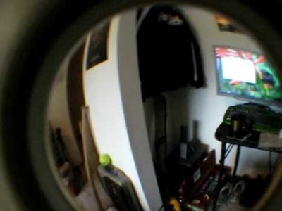 DIY peephole fisheye lens for point and shoot camera