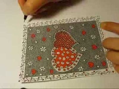 DIY: Zentangle Valentine Card