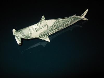 Dollar Origami: Won Park Shark (Fin Clinic)