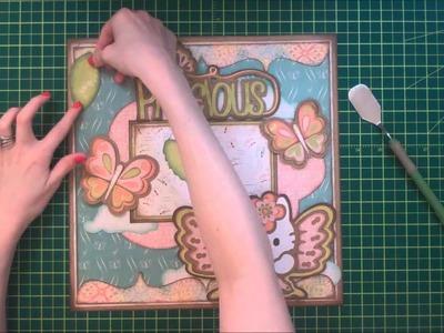 Faith Abigail Designs - Hello Kitty Butterfly Scrapbook Layout