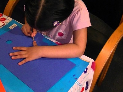 Foam Flower Craft by Kanan  for Mother's Day Card 17-03-12