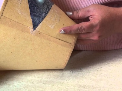 Get Your Craft On! - How to decoupage a lampshade with fabric