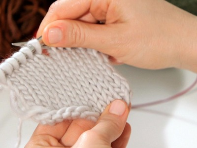 How to Do a Stockinette Stitch | Knitting