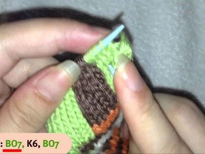 How to Knit Snowman Mobile Phone Cover Case Part 7