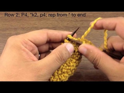 How to Knit the Little Ladder Stitch (English Style)