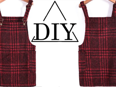How to make a plaid overall dress DIY