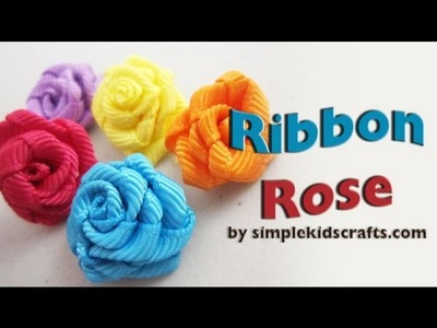 How to make grosgrain ribbon roses - EP