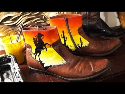 How to Paint and Customize Boots! Tutorial, Step by Step Guide, and DIY!