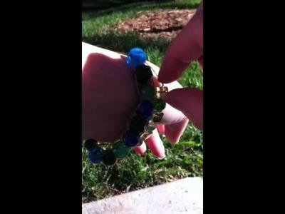 Knitting row count bracelet