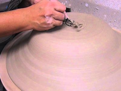 Making a mosaic basin pt 2 - Clay Craft Malaysia