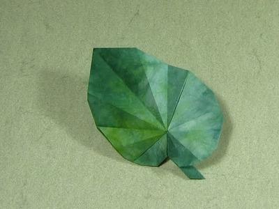 Origami Instructions: Begonia Leaf (Peter Engel)