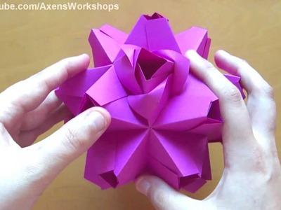 Origami Little Roses (Kusudama) (Maria Sinayskaya)