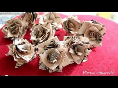 Rose Origami Tutorial (english version)
