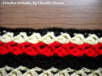"SCARF FASHION: DOUBLE SCARF, AND MATCHING GLOVES. BUFANDA ""DOBLE"" A CROCHET, MÁS GUANTES"