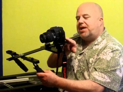 $80 DIY HDSLR Shoulder Rig Video Camera. Camcorder Stabilizer