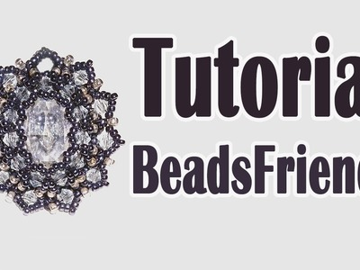BeadsFriends: Earring Tutorial - Beaded bezel earrings with Swarovski cabochon and seed beads