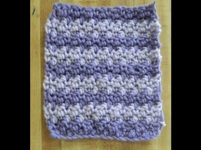 Beginner Crochet Alternate Seed Stitch Pattern