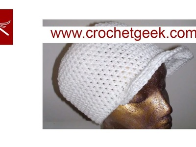 Crochet Hat with Brim Crochet Geek