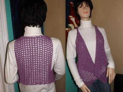 Crochet Vest Or Bolero For Beginners