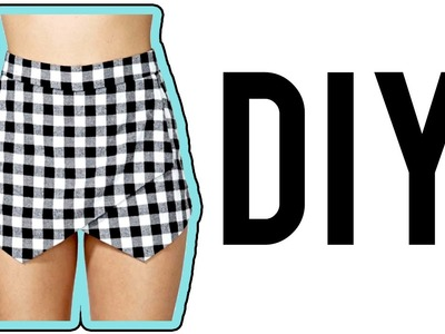 DIY Asymmetrical Skirt.Skort! | Make Thrift Buy #15