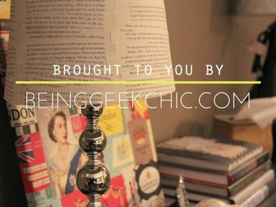 DIY: Book lover's lampshade