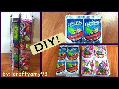 DIY Caprisun Book Cover & Pencil Pouch (Back to School)