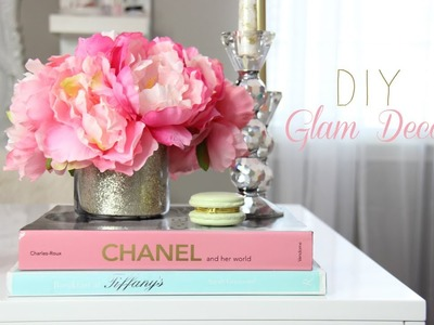 DIY - Glamorous Decorations For A Girly Office, Makeup room, Vanity  - MissLizHeart
