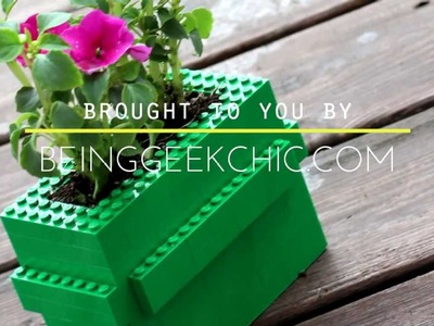 DIY LEGO flower pot