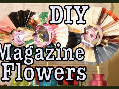 DIY: Magazine Flowers! Room Decor | #Roomspiration