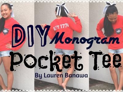 DIY Monogram Pocket Tee