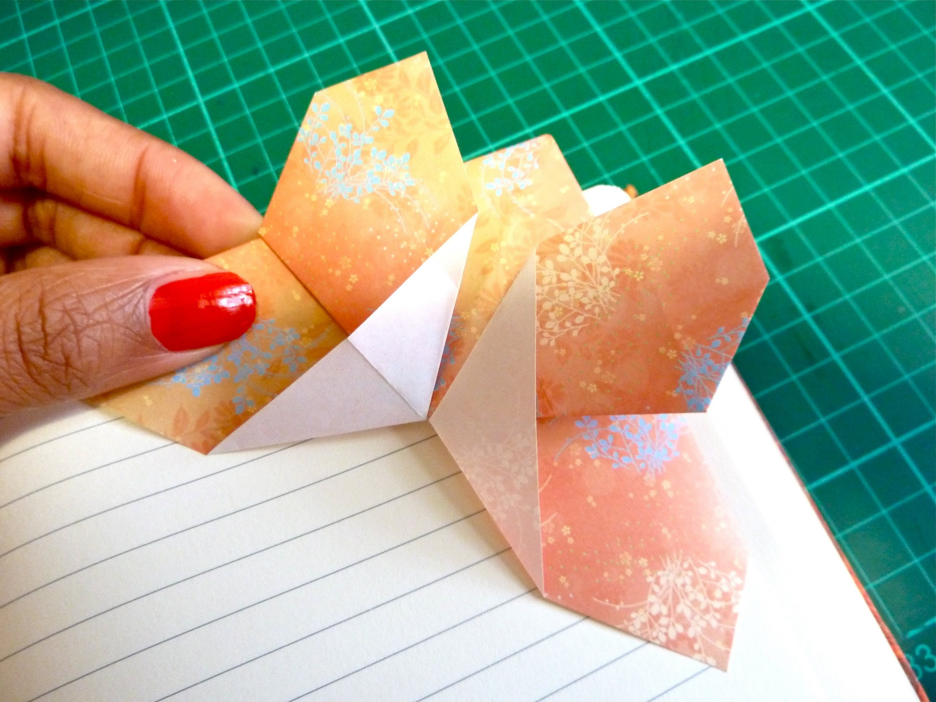 DIY Origami Butterfly Corner Bookmark