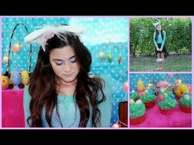 Easter Makeup, Outfit, and DIY Cupcakes!
