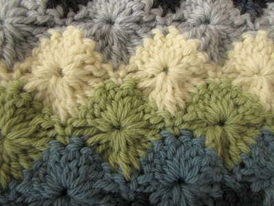 EASY crochet catherine wheel. starburst stitch blanket tutorial - part 2