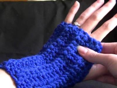 Easy Crochet Fingerless Gloves Part 2 of 2 Tutorial