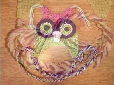 FREE CROCHET PATTERN OWL HAT, BEANIE TUTORIAL